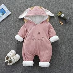 HIGH QUALITY MATERIAL - Our baby warm #outfits are made of soft wool #fleece,double layer #cotton lining for your baby's #sensitive skin. Super #warm and #comfortable to wear for #baby. CUTE CARTOON DESIGN - These baby #winter suits with cute #cat, #mouse or #bunny makes your baby more lovely. These baby #infant #snowsuit can keep your baby warm outside but look cute. This is essential in your baby's #wardrobe in cold winter. Winter Baby Clothes, Baby Winter, Snow Clothes, Baby Outfits Newborn, Baby Girl Newborn, Warm Outfits, Boy Outfits, Flannel Outfits, Winter Outfits