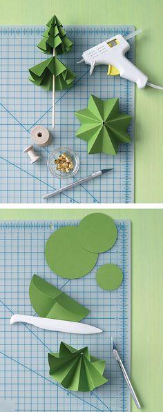 Sapin de noël 3D en papier