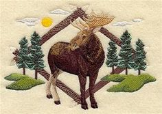 MOOSE in the WOODS MEN'S Tee Shirt or Sweatshirt from Topstitch Designs by Rosemary