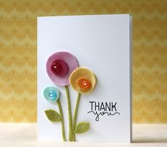 How Awesome is this thank You card by Laura Bassen using Simon Says Stamp Exclusives.  June 2014