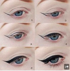 Eye liner lesson #makeup #fashion #tutorial