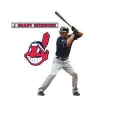0948df944d9 MLB Cleveland Indians Grady Sizemore Wall Accents