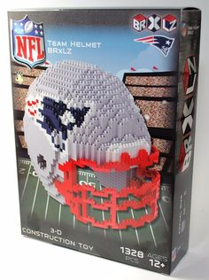 958729d9c9b Kansas City Chiefs NFL 3D BRXLZ Puzzle Helmet Set
