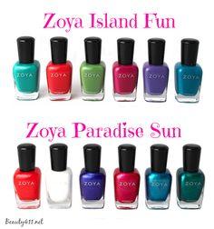 Zoya Island Fun & Paradise Sun Nail Polish Collection Summer 2015