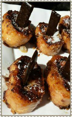 Www.facebook.com/dulcemielcake Torrijas caramelizadas con palito de caramelo!!! #torrijas #semanasanta