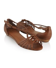 Grecian Leatherette Sandals - StyleSays