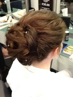 Hair up created by Roxi Penfold at TONI&GUY POOLE