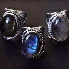 badwitchboutique. Oval stone rings.