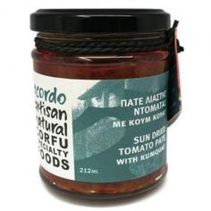 $12.46 Sun Dried Tomato Pate With Koum Quat Acodr... Dried Tomatoes, Sun Dried, Sauces, Salsa, Greece, Jar, How To Make, Mockingjay, Salsa Music
