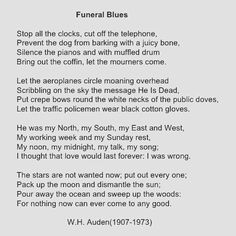#whauden#funeralblues#beautiful#poem#fourweddingsandafuneral by rasa.rimeisyte