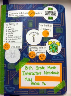 i is a number: Interactive Notebook Covers