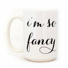 "Um... I pretty much need this in my life and for my morning coffee...Moon and Lola ""I'm So Fancy"" Mug"