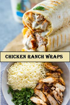 Healthy grilled chicken and ranch wraps are loaded … Perfect Chicken Ranch Wraps. Healthy grilled chicken and ranch wraps are loaded with chicken, cheese and ranch. These tasty wraps come together in under 15 minutes and … Healthy Chicken Recipes, Mexican Food Recipes, Vegetarian Recipes, Cooking Recipes, Recipe Chicken, Healthy Wrap Recipes, Healthy Chicken Wraps, Healthy Wraps, Grilled Chicken Wraps