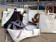 Segeltaschen aus original Segeltuch. Jede Segeltuchasche ein Unikat und unverwechselbar - handmade am Bodensee von Rough Element