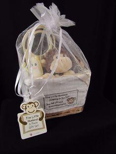 Baby Aspen Five Little Monkeys 5-Piece Gift Set New with Tags Lovey Rattle more #BabyAspen