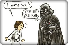 Darth vader and son, dad quotes from daughter, star wars humor, star wars. Bd Star Wars, Star Wars Comics, Star Wars Humor, Star Wars Art, Lego Star Wars, Dad Quotes From Daughter, Darth Vader And Son, Tim Burton Films, I Hate You