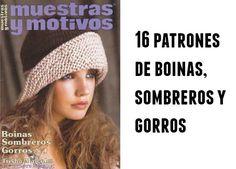 Boinas, sombreros y gorros revista 16 patrones