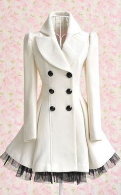 I want a coat like this so I can just wear leggings, and a t-shirt with flats and still look dressed up. Cute with petticoat underneath