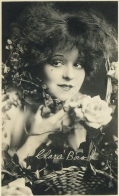 Clara Bow--an early film star with a rather raucous reputation.