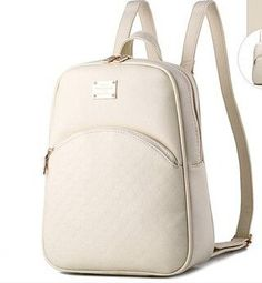 Elegant Classic High-Quality PU Leather Circle Embossed Pattern Backpack 6 Colors