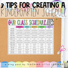 3 Tips for Creating a Kindergarten Schedule