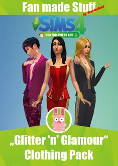 Glitter 'n' Glamour Clothing Pack by Standardheld at SimsWorkshop via Sims 4 Updates