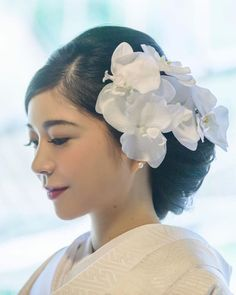 Dress Hairstyles, Bride Hairstyles, Up Styles, Long Hair Styles, Wedding Notes, Japanese Wedding, Japanese Hairstyle, Kimono Dress, Kimono Fashion