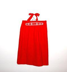 Vintage Skirt Pendleton Red Wool by CheekyVintageCloset on Etsy, $22.00