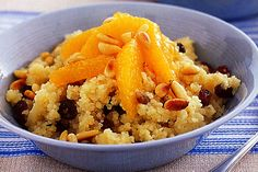 Sweet couscous with orange & pine nuts main image Pine Nut Recipes, Raw Food Recipes, New Recipes, Dishes To Go, Rice Dishes, Cooking Tips, Cooking Recipes, Recipe Sites, Side Salad