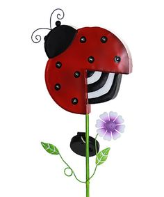 This Ladybug Solar-Powered Garden Stake is perfect! #zulilyfinds