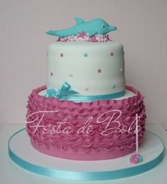 girly dolphin cake