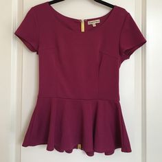 Altar'd State Peplum Top with Zipper Very cute and very flattering. Exposed zipper in back. Altar'd State Tops Blouses