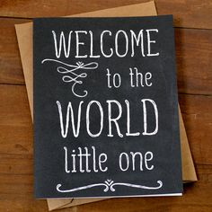 Baby Card welcome to the world! :0) #congratulations