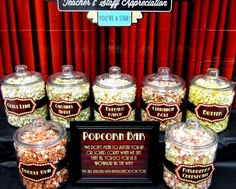 Sweeten Your Day Events: Hollywood Teacher Appreciation Week - Apss Hollywood Birthday Parties, Hollywood Theme, Hollywood Glamour, Old Hollywood Party, Hollywood Wedding, Hollywood Style, Popcorn Bar, Teacher Lunches, Teacher Gifts