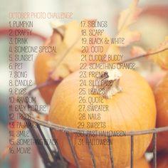 October Photo Challenge