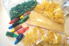 Mixing and colouring pasta