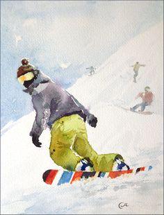 Watercolors by Maria Stezhko (Акварели Марии Стежко): Winter dreams