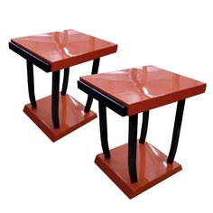 Pair Of Art Deco Side Tables Designed By Michel Dufet   From a unique collection of antique and modern side tables at https://www.1stdibs.com/furniture/tables/side-tables/