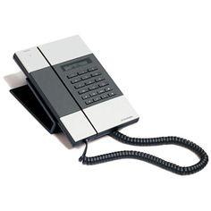 Jacob Jensen - Telephone T-3 featuring polyvore, electronics, phones, home technique, telephones, silver home decor, black home decor and jacob jensen