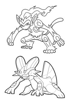 Coloring Pages Pokmon Female Forms