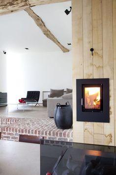 'Rabbit Hole' Gaasbeek - Belgium - by Lens Ass Architects Architecture Magazines, Architecture Design, Wood Burner Fireplace, Victorian Fireplace, Old Farm, Rabbit Hole, Vintage Wood, Belgium, Interior Design