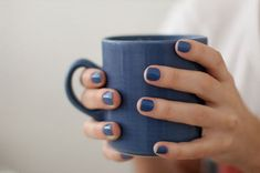 nails, blue, and cup image