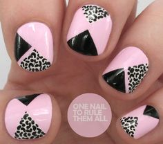 Tutorial Tuesday: Pink Geometric Leopard Print for Divine Caroline - One Nail To Rule Them All