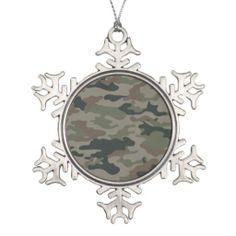 Hunters Camouflage Christmas Ball Ornament Decor