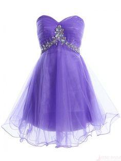 Sweetheart Tulle Beading  Short  Mini Homecoming Cocktail Dress #SIMIBridal #homecomingdresses
