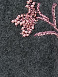 Prada embroidered knitted skirt