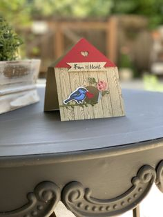 Stampin' All Day With Bev - Beverlee Morales, Independent Stampin' Up! House Cards, Bird House Kits, Old Cards, Anna Griffin Cards, Bird On Branch, Exploding Boxes, Shaped Cards, Card Making Tutorials, Easel Cards