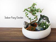 Indoor Fairy Garden #fairygarden #fairydoor #fairyhouse #fairyart #fairy #handmade #handpainted #art