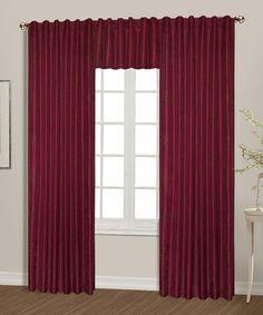 Burgundy Starburst Curtain Panel #zulily #zulilyfinds