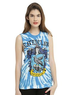 Harry Potter Ravenclaw Tie Dye Girls Muscle Top, BLUE